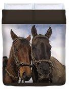 Horses  Belonging To Chagras Ecuador Duvet Cover