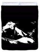 Horses - Black And White Duvet Cover