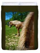 Horses In Meadow Duvet Cover