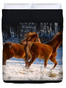 Horses In Motion Duvet Cover
