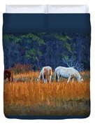 Horses On The March Duvet Cover