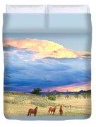 Horses On The Storm 2 Duvet Cover