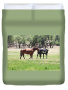 Horses Out Wickenburg Way Duvet Cover
