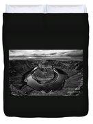 Horseshoe Bend Arizona Monochrome Duvet Cover