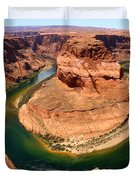 Horseshoe Bend - Nature's Awesome Work Duvet Cover
