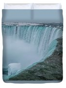 Horseshoe Falls Ice Formations Duvet Cover