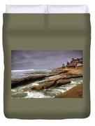 Horseshoes Beach Duvet Cover