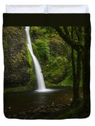 Horsetail Falls Columbia River Gorge Duvet Cover