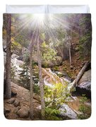 Horsethief Falls Sunburst - Cripple Creek Colorado Duvet Cover
