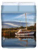 Horsey Mere In Evening Light Duvet Cover