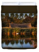 Horsey Mere On The Norfolk Broads On A Still Day In Autumn Duvet Cover