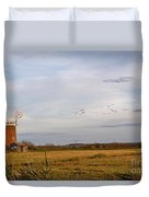 Horsey Windmill In Autumn Duvet Cover