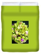 Hortensia With Touch Of Pink Duvet Cover