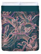 Host Of Angels Pink Duvet Cover