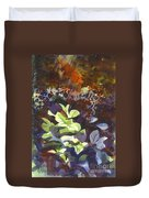 Hostas In The Forest Duvet Cover