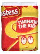 Hostess Twinkie The Kid Duvet Cover by Tony Rubino