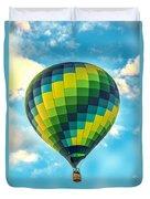 Hot Air Balloon Checkerboard Duvet Cover