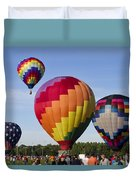Hot Air Balloon Festival In Decatur Alabama  Duvet Cover