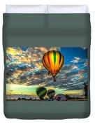 Hot Air Balloon Lift Off Duvet Cover