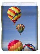 Hot Air Balloon Race Duvet Cover