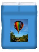 Hot Air Balloon Woodstock Vermont Duvet Cover