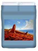 Hot As The Sun Duvet Cover