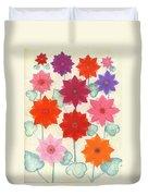 Hot Bloom Duvet Cover