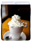 Hot Chocolate With Creme Chantilly Duvet Cover