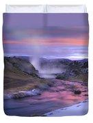Hot Creek At Sunset Sierra Nevada Duvet Cover