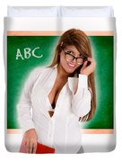 Hot For Teacher Duvet Cover