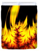 Hot Orange And Yellow Fractal Fire Duvet Cover