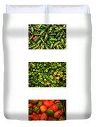 Hot Pepper Collage Duvet Cover