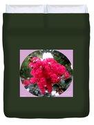 Hot Pink Crepe Myrtle Blossoms Duvet Cover