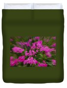 Hot Pink Flower Zoom Duvet Cover