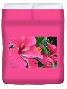 Hot Pink Hibiscus 2 Duvet Cover