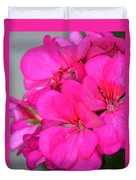 Hot Pink In February Duvet Cover