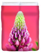 Hot Pink Lupine Duvet Cover