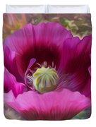 Hot Pink Poppy Duvet Cover