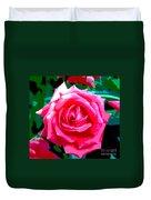 Hot Pink Rose Duvet Cover