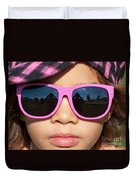 Hot Pink Sunglasses Duvet Cover