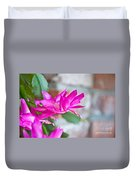 Hot Pink Christmas Cactus Flower Art Prints Duvet Cover