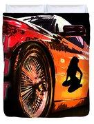 Hot Red Car Duvet Cover