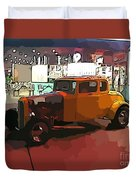 Hot Rod Icon Duvet Cover