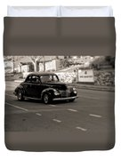 Hot Rod On The Street Duvet Cover