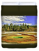 Prismatic Geyser Yellowstone National Park Duvet Cover