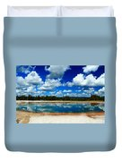 Hot Springs And Clouds Duvet Cover