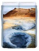 Hot Springs At Namaskard In Iceland Duvet Cover