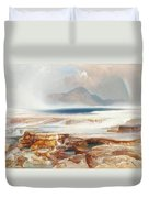 Hot Springs Of Yellowstone Duvet Cover