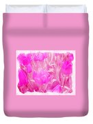 Hot Stuff   In Your Face Pink Tulips Duvet Cover