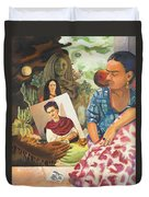 Hot Ticket Frida Kahlo Meta Portrait Duvet Cover
